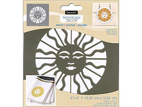 Deco Art Decads-k.102 Americana Décor Pochoir céleste Soleil, 15,2 cm par 15,2 cm