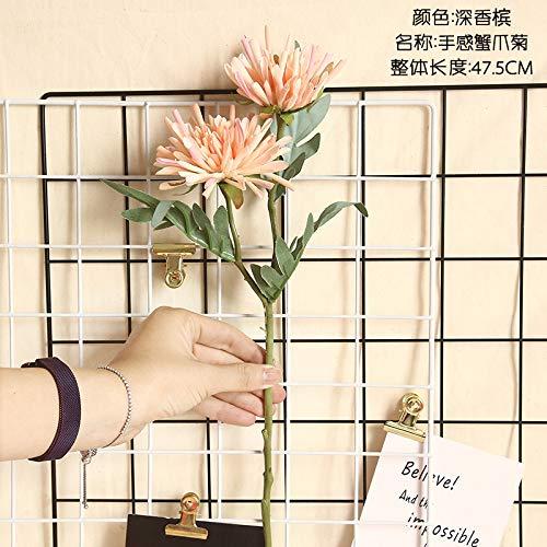 ZTAOPLHH Künstliche Blumen, Krebsschere Alondra Ju Ju Hauptdekoration Kunstblumen Hochzeit Bouquets künstliche Blume Pflanze Wand,tief Champagner
