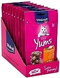 Vitakraft Cat Yums - Aperitivos para gatos con pollo y hierbas, paquete con 9 unidades
