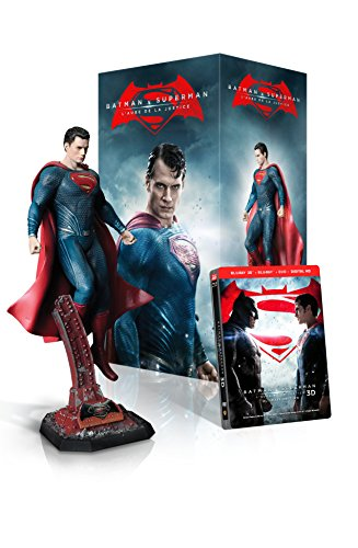 Batman v Superman: L'Aube de la Justice (version longue) - Edition ultime collector (incluse la Statue de Superman) Bluray 3D + Bluray 2D [Edition limitée] [Blu-ray]