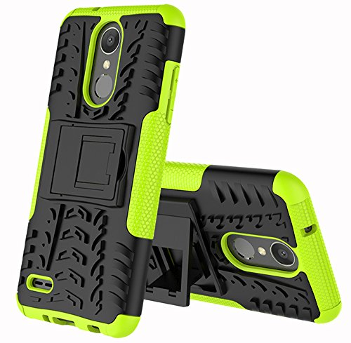 Yiakeng Compatible for LG Zone 4 Case,LG Aristo 2/3, LG Phoenix 4, LG Tribute Empire/Tribute Dynasty,LG Fortune 2,LG Risio 3,Wallet Hard Protective Flip Phone Cases with A Kickstand (Green)