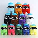 Among Us Plush Stuff Animal Plushies Toys Among Us Imposter Plushie Gifts for Game Fans 6 inch, 1 Pack, Random Color (1pc-Random Color)