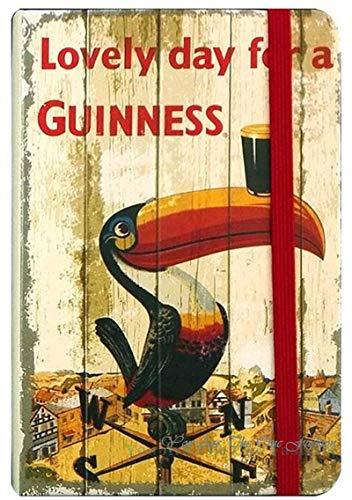 ZHUOYUETT Coque Café Cerveza Comida Guinness Cartel de Cerveza Cartel de Chapa de Metal Placa Retro Hierro Pintado Pared Retro Bar Pub Cueva Decoración de Pared 20x30cm 5