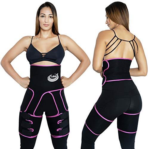 Tdas Waist Trainer Butt Lifter for Women – 3 in 1 Waist Trimmer – Stomach and Thigh Shaper for Women – Body Trimmer for Women Weight Loss – Butt and Thigh Enhancer