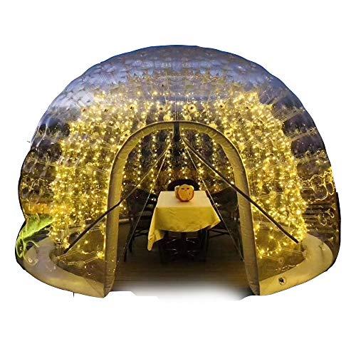 JASSXIN Panorama Lounge-Zelt Transparent Zelt, Doppelte Schicht Sphärische Garten Igloo 360 Dome, Außen Luxurious Halb-Transparent Scenic Ferienhaus Im Freien Garten Camping,13Ft