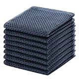 100% Cotton Kitchen Dish Cloths, 8-Pack Waffle Weave Ultra Soft Absorbent Dish Towels Washcloths Quick Drying Dish Rags,...