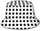 BONRI Sombrero de Cubo con Estampado de Helado, Gorra de Pesca para Pescador, para Mujer, Viaje, Color Negro, Talla única
