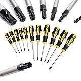 CCLIFE 11pieza Juego de destornilladores juego destornilladores precision destornillador electricista perfil en T (para Torx) con perforación T6 - T40