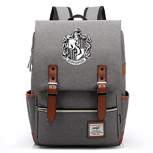 MMZ Bolsa de lona para estudiantes de primaria, mochilas para niños y niñas con estampado de carteles de Hufflepuff Mochila informal para adolescentes 38x27x12.5cm (#3)