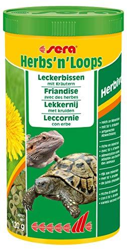 sera Herbs'n'Loops 1000 ml Futter bzw. Leckerbissen für artgerechte Abwechslung aus getrockneten Kräutern (50 %) & schonend hergestellten Loops für Landschildkröten und andere herbivore Reptilien