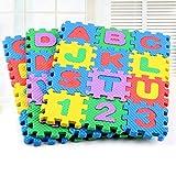 UxradG - Juego de 36 alfombrillas para niños de espuma suave, alfabeto, números de alfabeto, puzle, alfombra para suelo