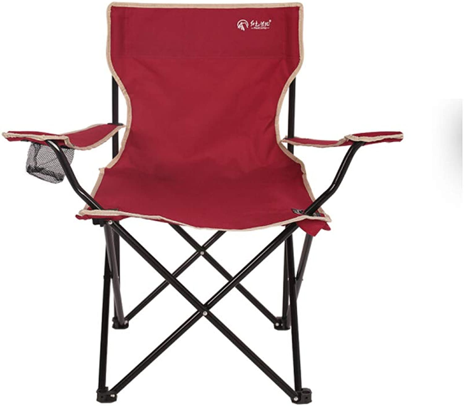 Camping Chair, Portable Fishing Chair with Cup Holder and Storage Bag, Lightweight Heavy Duty for Festival, Camping, Garden, BBQ, Beach, Backpacking