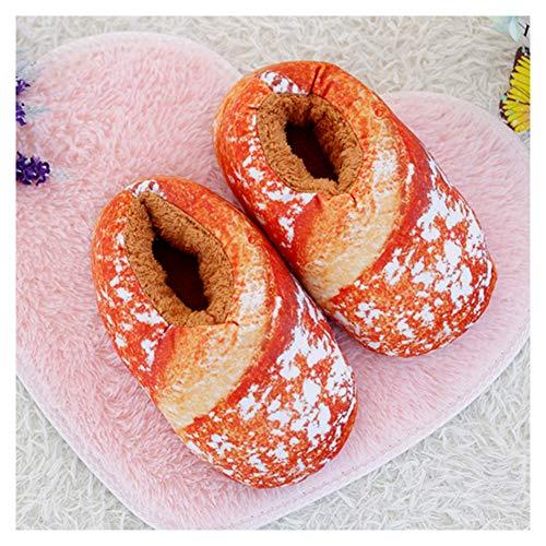 EDOSTORY Kreativen Spaß Pantoffeln, Gourmet-Brot Kreative Hausschuhe, Hausschuhe rutschfeste Boden Hausschuhe Hausschuhe Schuhe,Gelb,EU40