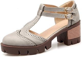 BalaMasa Womens ASL06067 Pu Platform Heels