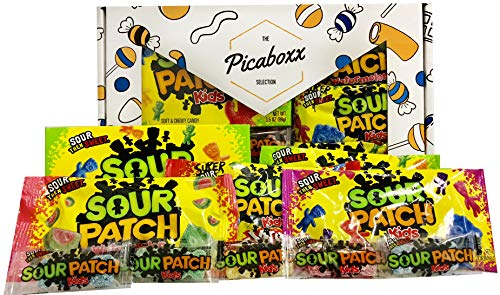 Picaboxx Sour Patch Kids American Candy Selection Gift Box - 10 Products Value Pack   American Candy Hamper   Sweet Gift Box with Display Window