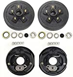 LIBRA Trailer 5 on 4.5' B.C. Hub Drum Kits with 10' x2-1/4 Electric Brakes for 3500 Lbs Axle