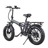 WBYY Bicicleta Eléctrica Plegable para Adultos, Bicicleta Electrica Montaña de 20 Pulgadas, 500W 48V 15AH con la Pantalla LCD, 7 Velocidades, 3 Modos