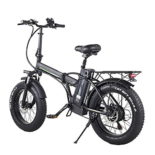 WBYY Bicicleta Eléctrica Plegable para Adultos, Bicicleta Electrica Montaña de 20 Pulgadas,...