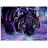 JACCAWS Psychedelic Tiger Tapestry Wall Hanging,Anime Tiger Wall Art Aniaml Tapestry Wall Hanging,59''x79'' Trippy Tiger Tapestry for Bedroom Living Room Home Wall Decor. (59''x79'', Anime Tiger)