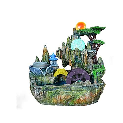 NXYJD Esculturas Corriente de Agua Adornos de Resina, la decoración de la Sala de Estar Ministerio del Interior Decoración Mueble de televisión de Escritorio