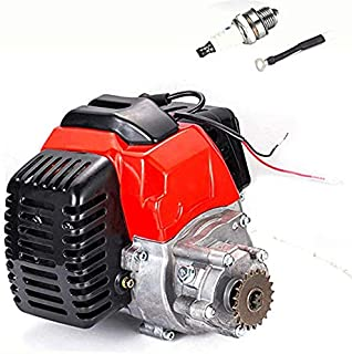 HOTSTORE 2 Stroke Bicycle Engine Kit, 49CC Engine Motorized Bike Kit, Gas Motor Pull Start Conversion Kit Air Cooling Motorized Engine Bike Kit