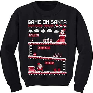 Video Game Santa 8bit 80's Vintage Ugly Chritsmas Gamers Toddler/Kids Sweatshirt