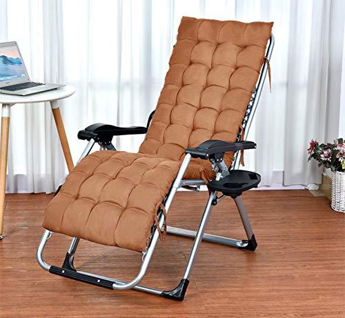 XFXDBT Portátil Cojín De Silla Mecedora Plegable Chaise Lounge Chair Cushion,Espesar Una-cojín De Silla De Pieza Jardín No-resbalón Cojín De Silla De Ratán-Marrón
