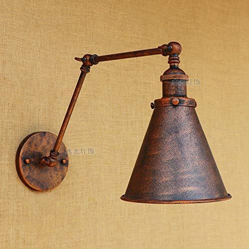 Vintage wandlampen antiek roest-koper kurk van metaal lampenkap voor hal keuken restaurant slaapkamer wandlamp industrieel