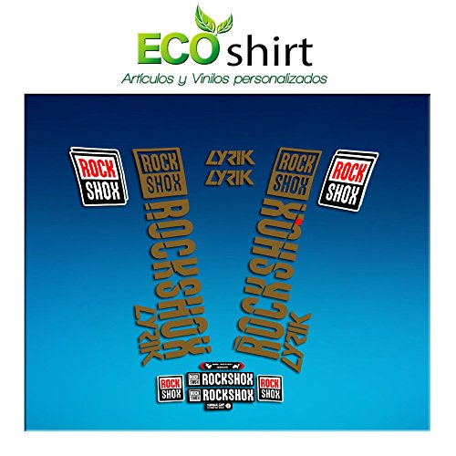 Ecoshirt 8M-PRL7-8NIT sticker Fork Rock Shox Lyrik 2018 Am176 sticker vork goud