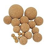 Iberia 10 Korkkugeln aus Presskork, Verschiedene Durchmesser, z.B. zum Basteln, zum Angeln, als Fussball für Tischkicker und vieles mehr, 100% vegan (0,16 cm)