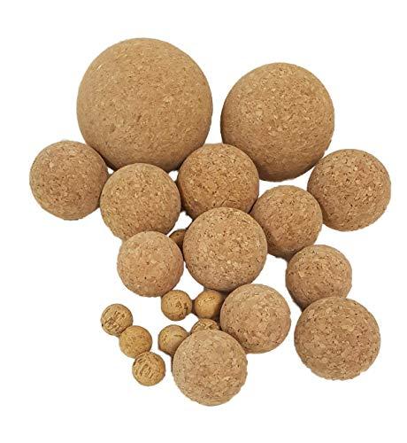 Iberia 10 Korkkugeln aus Presskork, Verschiedene Durchmesser, z.B. zum Basteln, zum Angeln, als Fussball für Tischkicker und vieles mehr, 100% vegan (4 cm)