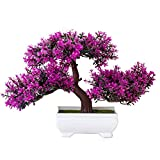 Ryoizen Künstliche Bonsai Künstliche Pflanzen Pflanze Künstliche Bonsai-Baum Pflanzen Home Office Simulation Topfpflanze Garden Deko Feng Shui Lucky Deko Kunstbaum(#3)