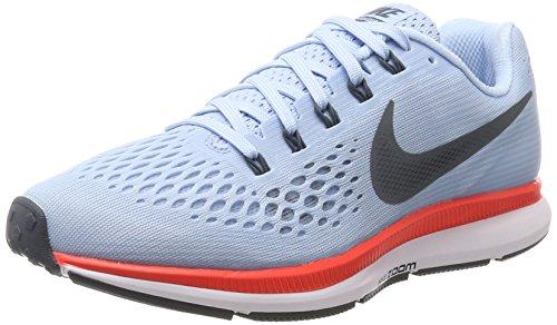 Nike WMNS AIR Zoom Pegasus 34, Chaussures de Running Femme, Bleu (Bleu glacé/Cramoisi Brillant/Blanc/Renard Bleu), 41 EU
