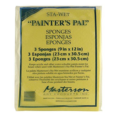 Masterson ME912-5-3 Sta-Wet Palette Painters Pal, 3 Pack