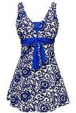ALICECOCO Femme Maillot de Bain Push Up Rembourré Amincissant Bikini Style Robe Tankini Grande...