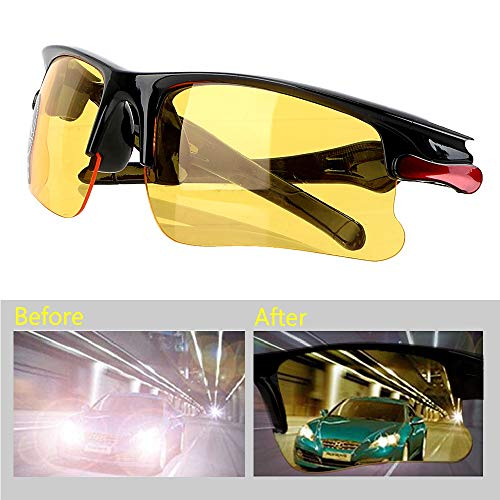 Holdream Autofahrbrille Schutzbrille Nachtsicht Blendschutz (Modell 1)