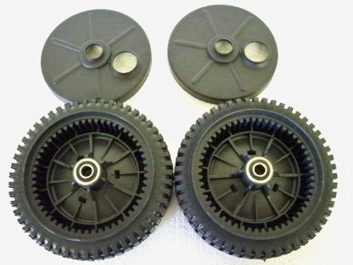 2er Set Original FSP Rasenmäher Wheel Kit 193144 inkl. 2 Staubschutzhüllen #189403 Metallbuchsen, kein Kunststoff.