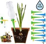 Set de riego automático, sistema de riego automático para plantas con válvula de control, 12 unidades, para plantas de jardín, plantas de interior