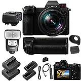 Panasonic Lumix DC-S1R Mirrorless Digital Camera with 24-105mm Lens - Full Panasonic Bundle - Extra Panasonic Battery + Battery Grip + DMW-RS2 Remote + DMW-FL580L Flash + Panasonic XLR Adapter + More