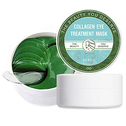 Under Eye Mask with Natural & Special Ingredients, Green Tea Extract Under Eye Patches for Puffy Eyes, Dark Circles, Eye Moisturizing, Anti-Wrinkle, Collagen Eye Mask (30Pairs/60PCS)