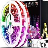 50ft Led Lights for Bedroom, Keepsmile APP Control Music Sync Color Changing Led Light Strips Led...