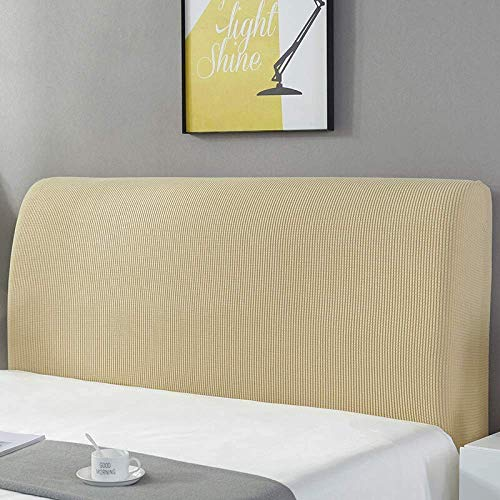 ZXLRH Headboard Slipcover for King/Queen/Twin Bed,Thicken Stretch Bed Headboard Cover,Solid Color Dustproof Decor Slip Cover