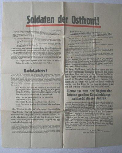 Soldaten der Ostfront!, Aufruf Adolf Hitlers zur