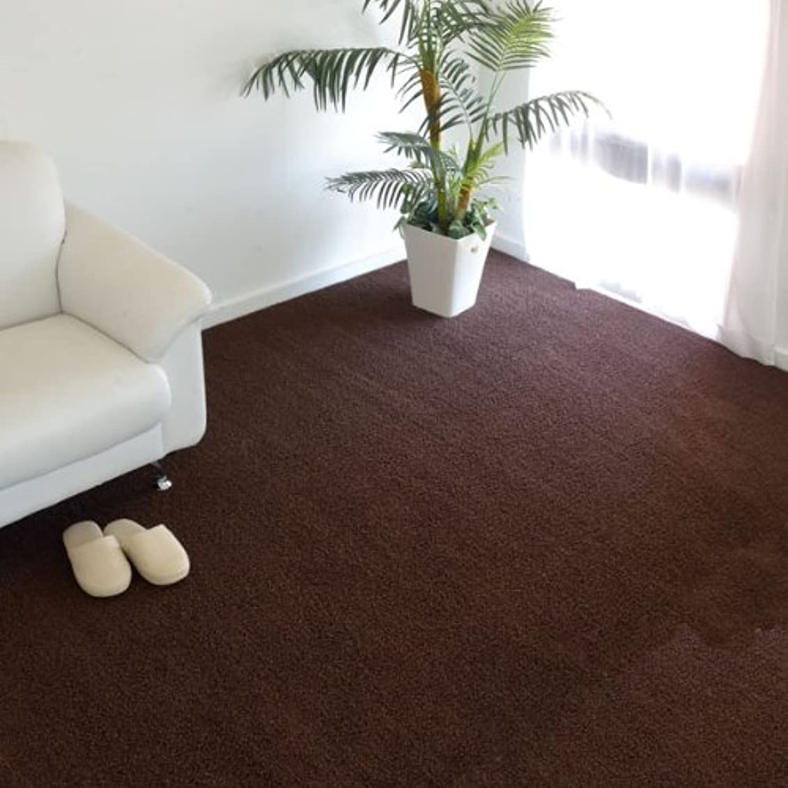 領域振幅貢献するなかね家具 弾力のあるふかふか感が特徴 防炎?防音 3畳(176×261) ブラウン 186mo-