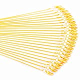 Gold Chain 18K Gold Plated Snake Chains for Necklace Jewelry Making 24pcs 1.2mm 16 18 20 24inch (24inch)