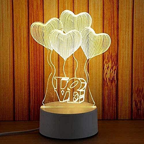 LWYX Luces de noche 3D/Elefante Serie 3D Lámpara Led Atmósfera Linterna Regalo Creativo Visual Colorido 3D Accesorios de Luz de Noche Led Luz de 7 Cambio de Color Interruptor Táctil Remoto -B7-B4