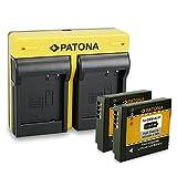 PATONA Dual Cargador + 2X Bateria DMW-BLH7 Compatible con Panasonic Lumix DMC-GM1 GM5 GF7 DC-GX800 DMW-LX15