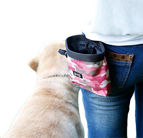 Diyafas Camuflaje Bolso del Entrenamiento del Perro Tratar Bolsa para Mascotas Dispensador de Bolsas de Poo