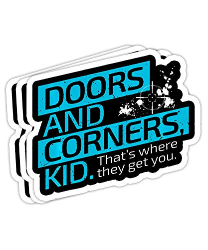 The Expanse Doors and Corners Gift Decorations - 4x3 Vinyl Stickers, Laptop Decal, Water Bottle Sticker (Set of 3)