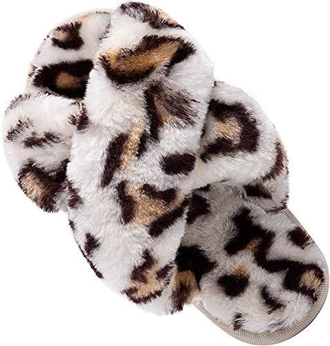 Chicolife, zapatillas mullidas, sandalias con punta abierta de piel de interior para...